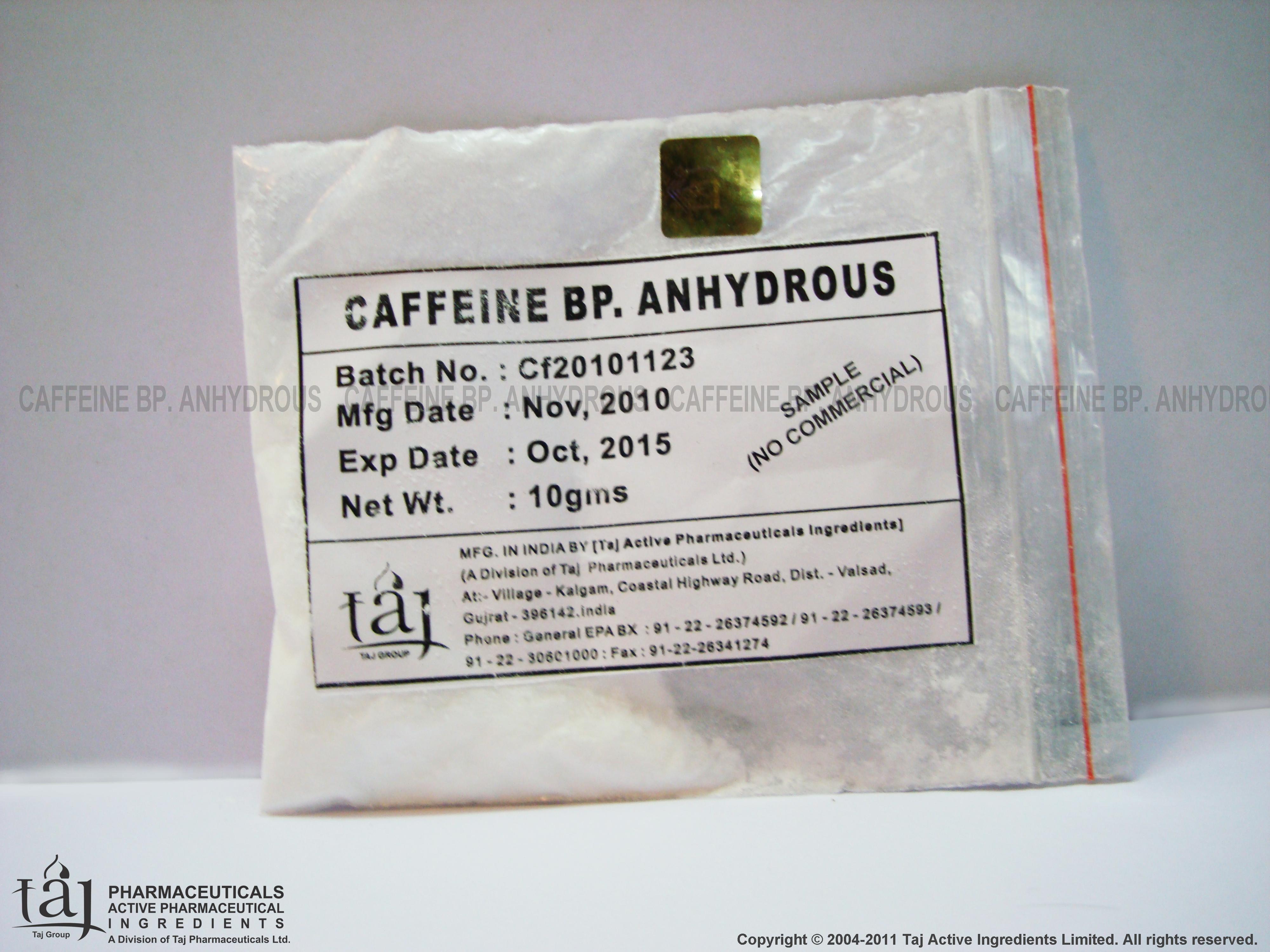 Caffeine Cas No 58 08 2 Manufacturer India Pure